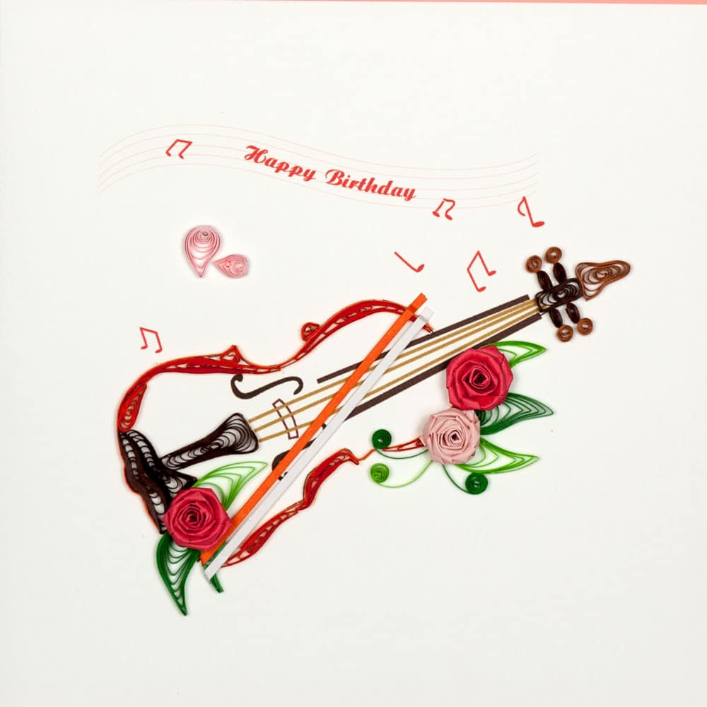 Quilling Card Violin Birthday Card Handmade Card