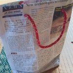 新聞紙エコバッグの作り方!こんなに簡単におしゃれバッグが!