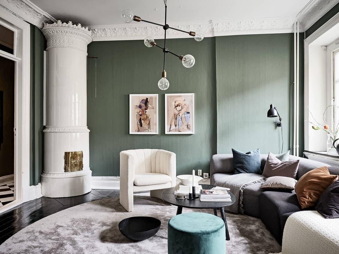 Classy Green Living Room Coco Lapine Designcoco Lapine Design