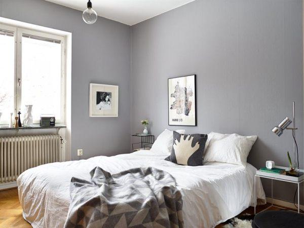 scandinavian bedroom design grey Grey walls for the win - COCO LAPINE DESIGNCOCO LAPINE DESIGN