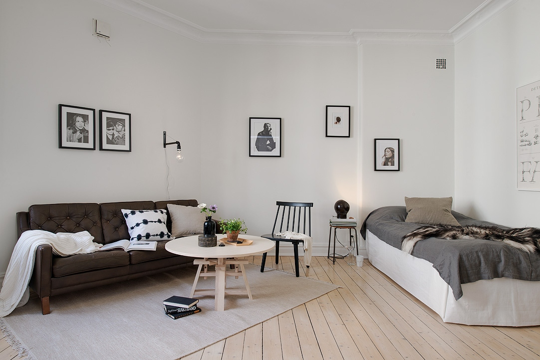 Bed  living room with dark touches  COCO LAPINE