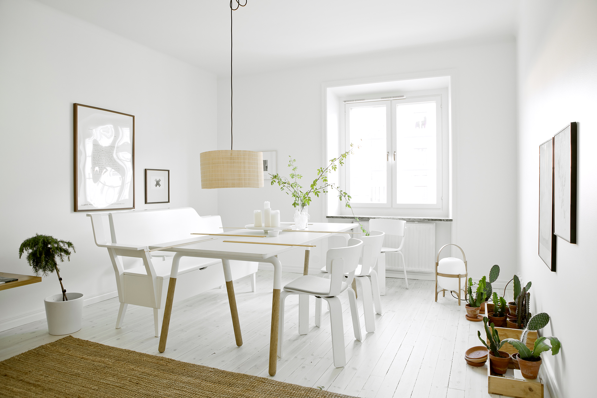 White beige and greens in a Stockholm apartment  COCO