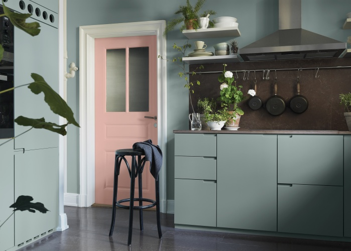 Dusty Pink And Mint Green In The Kitchen Coco Lapine Designcoco Lapine Design