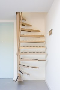 A perfect solution for small space living: the 1m2 stairs ...