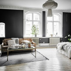 Paint Color Ideas Living Room Accent Wall Indoor Plants Black Walls - Coco Lapine Designcoco Design