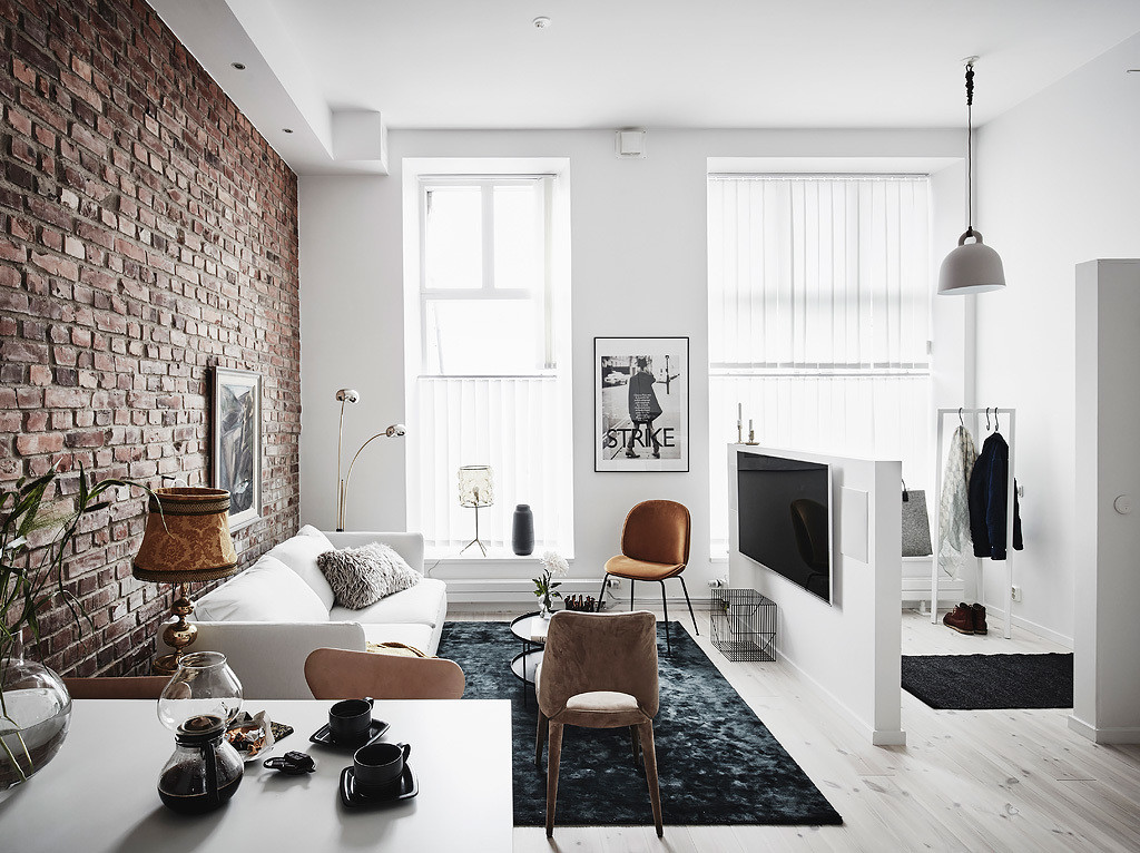 Exposed Brick And Black Bedroom Walls Coco Lapine Designcoco Lapine Design