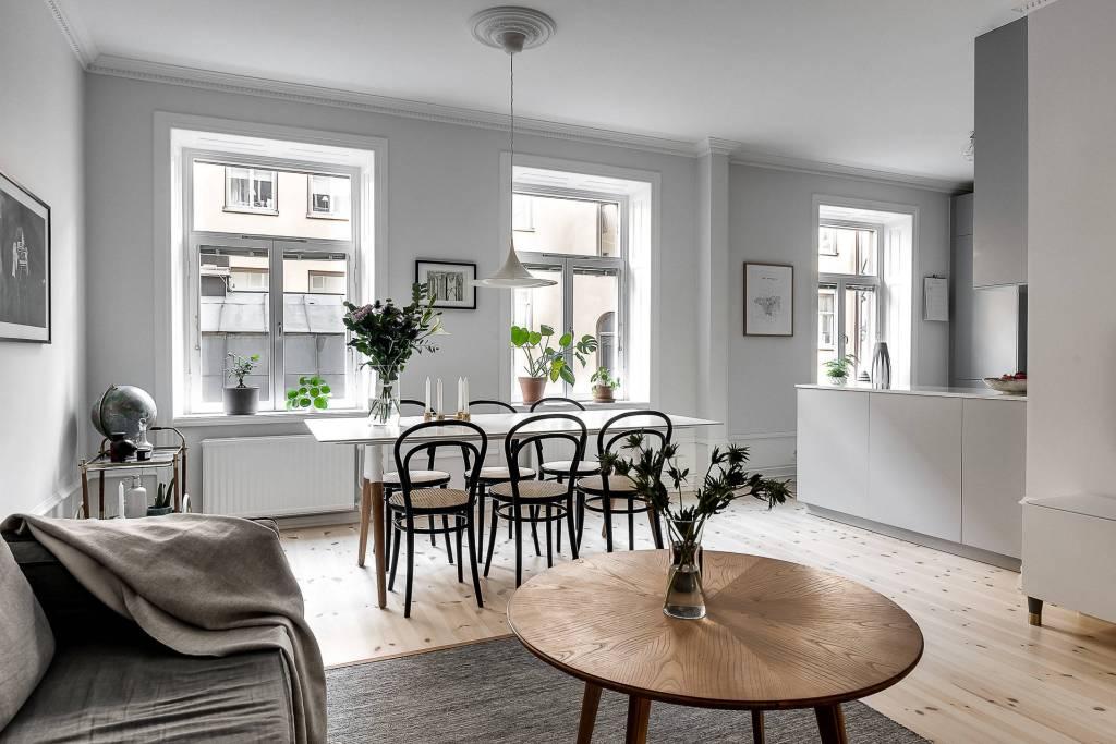 Scandinavische eetkamer