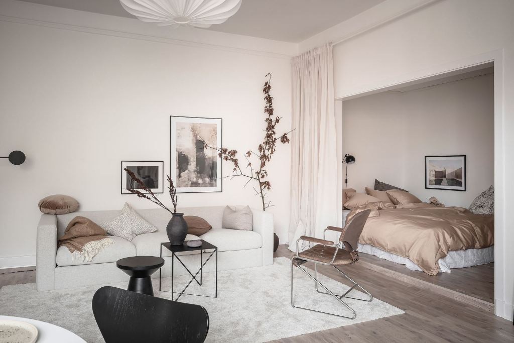 Living room and bedroom combined