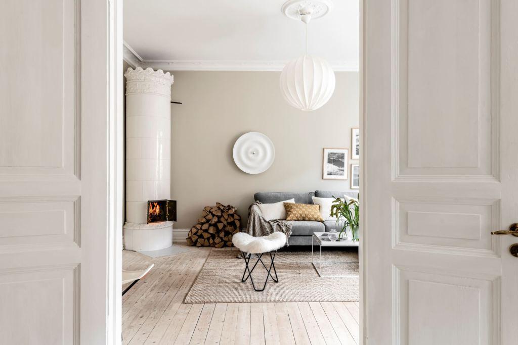 Cozy home in beige tints