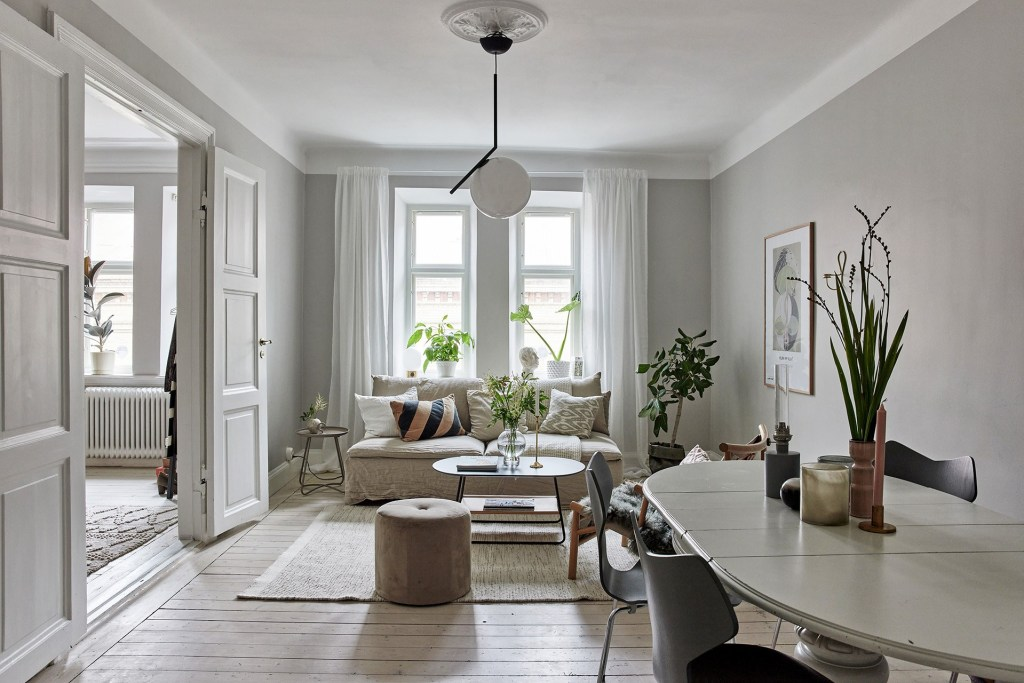 Turn of the century home with beautiful accessories