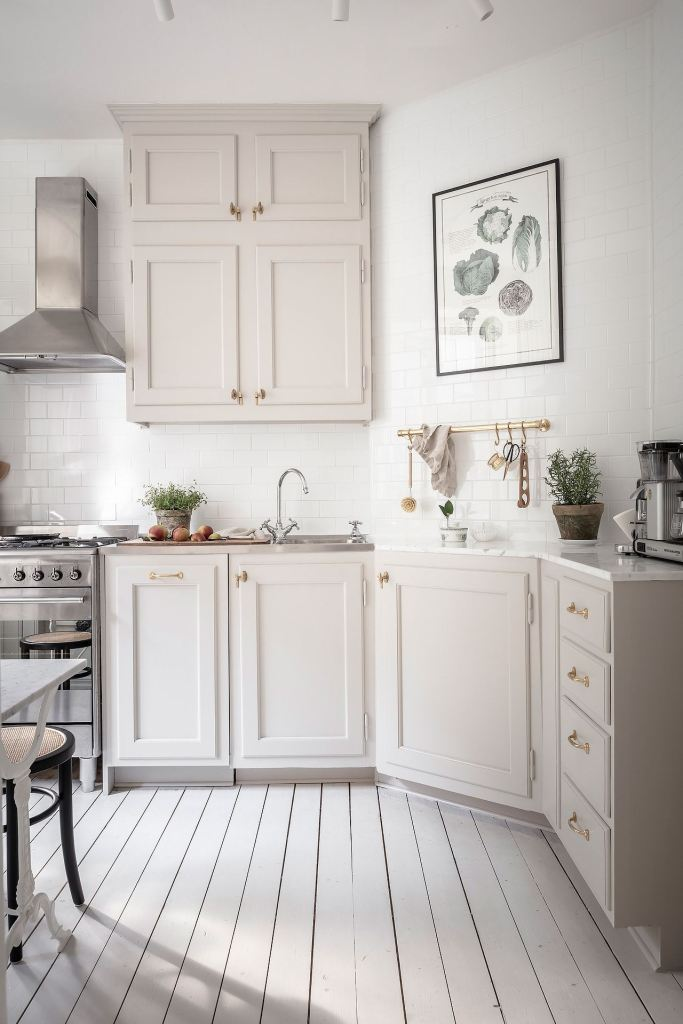 Beige kitchen with turn of the century elements