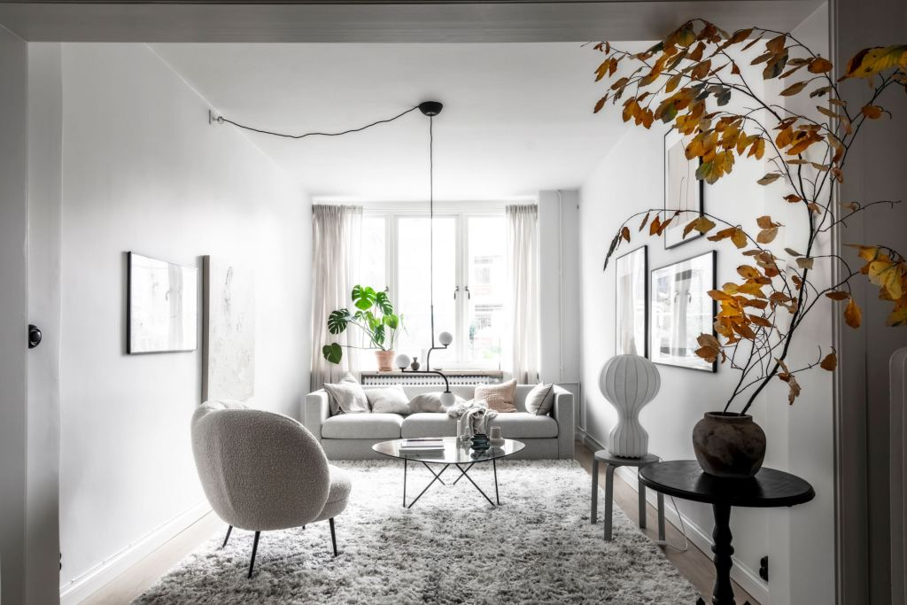 Cozy home in beige and grey