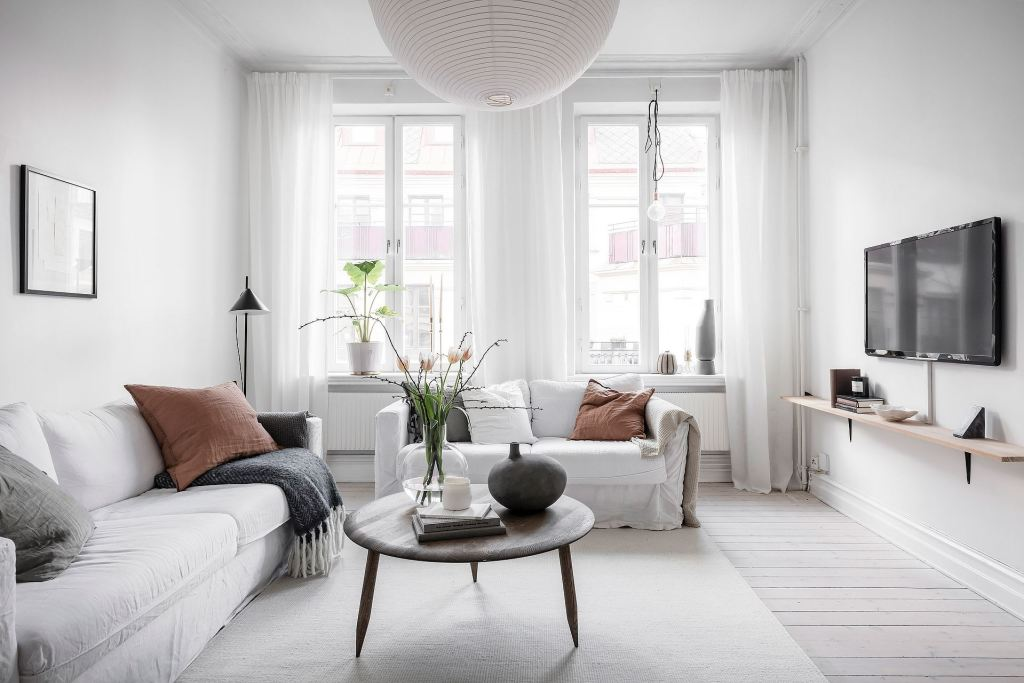 Bright white apartment