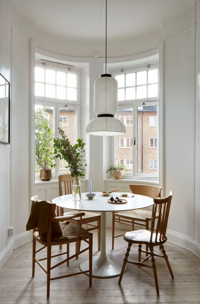 Cozy and characterful home with a green kitchen