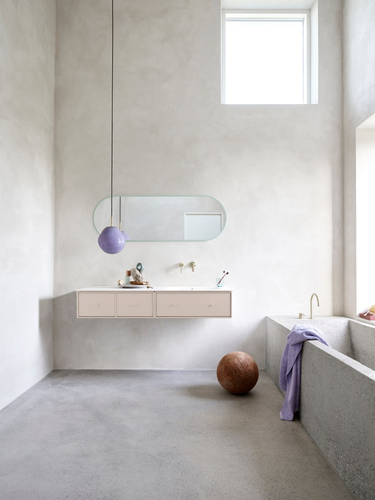 Pastel bathroom from Montana Furniture