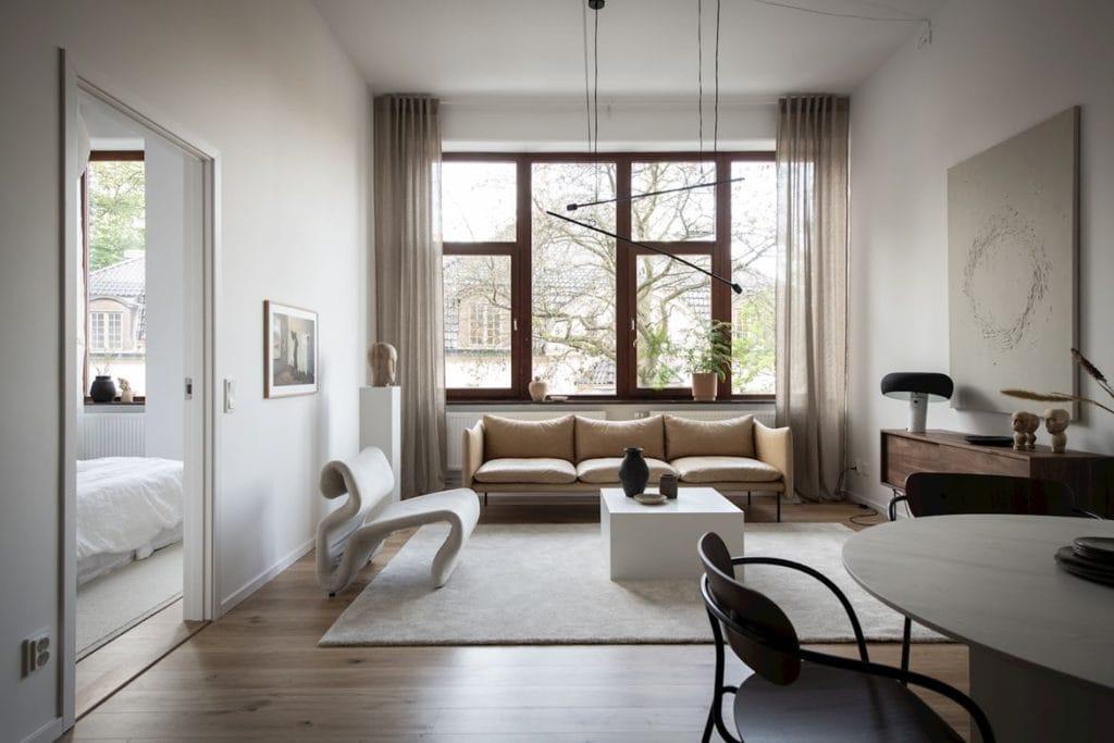 Warm Minimalist Living Room Coco Lapine Designcoco Lapine Design