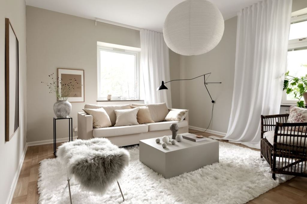 Soft home in a beige palette