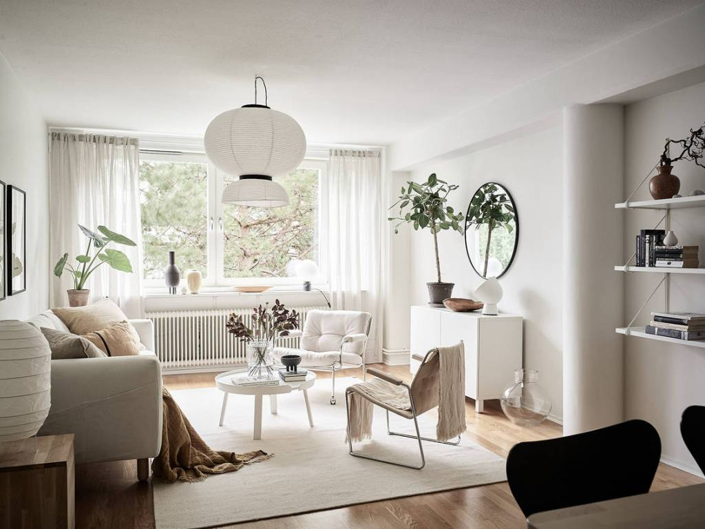 White home with beige accents