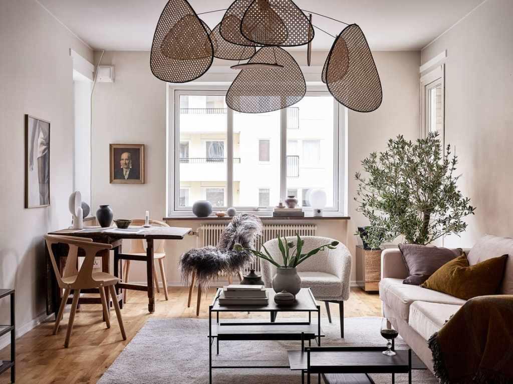 Simple home in warm tones