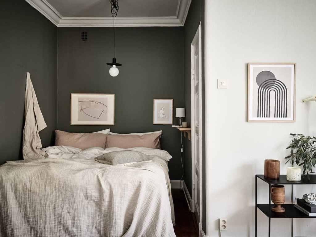 Small Studio Home With Olive Green Accents Coco Lapine Designcoco Lapine Design