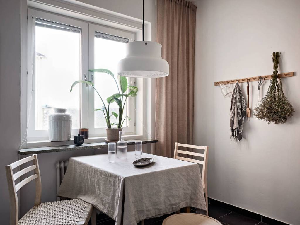 Small natural dining area