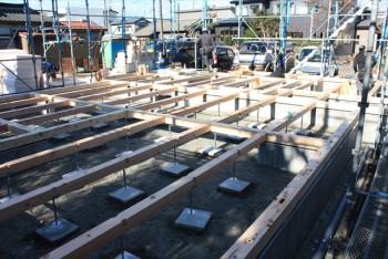 ■土台敷き工事