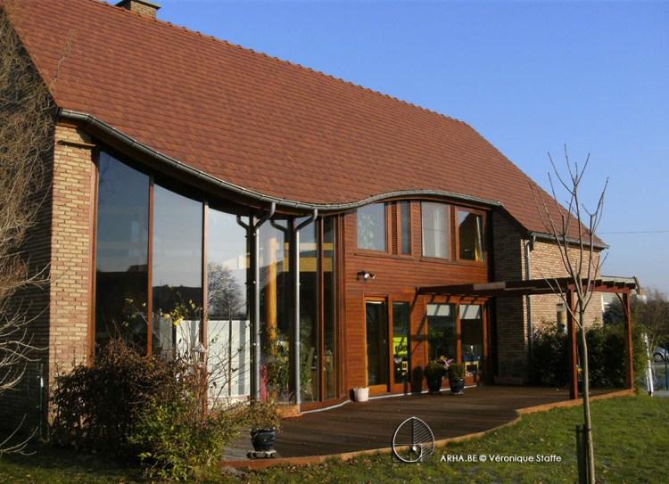 Maison éco-bio-climatique conçue par Véronique Staffe avec spirale du nombre d'or