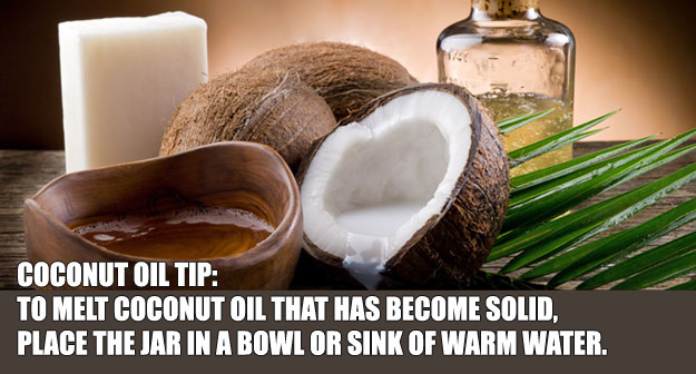 How to Melt Ccoconut Oil that's Solid