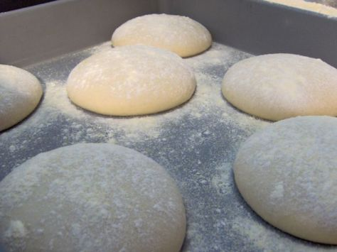 23. Pizza Dough: self rising flour + Greek yogurt. Mix together and form a ball, then knead the dough for 5-8 minutes and flatten.