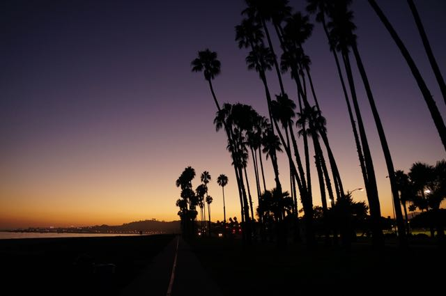 Sunset in Santa Barbara, California, USA. Photo: Eeva Routio.