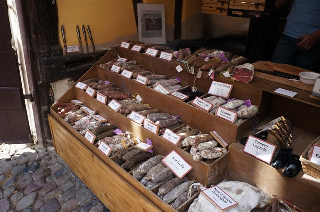Sausages and cheese galore in Alsace, France. Photo: Eeva Routio.