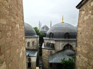 View from the Hagia Sophia, Istanbul, Turkey.