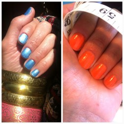 ~ My two favorite colors at the moment. Metallic Blue & Citrus Orange. ~