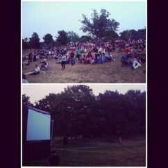 ~ Movie screening in the park ~