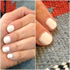 ~ Current obsession: White manicure. ~