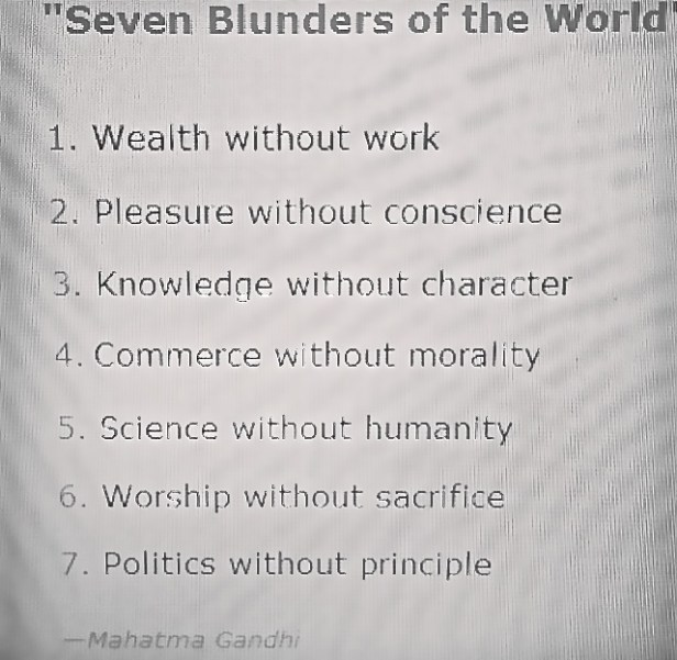 ~ Seven Blunders of the World ~