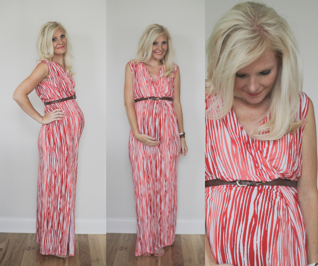 Red Maxi with belt