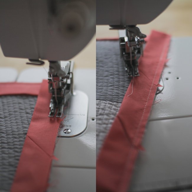 final seam for binding