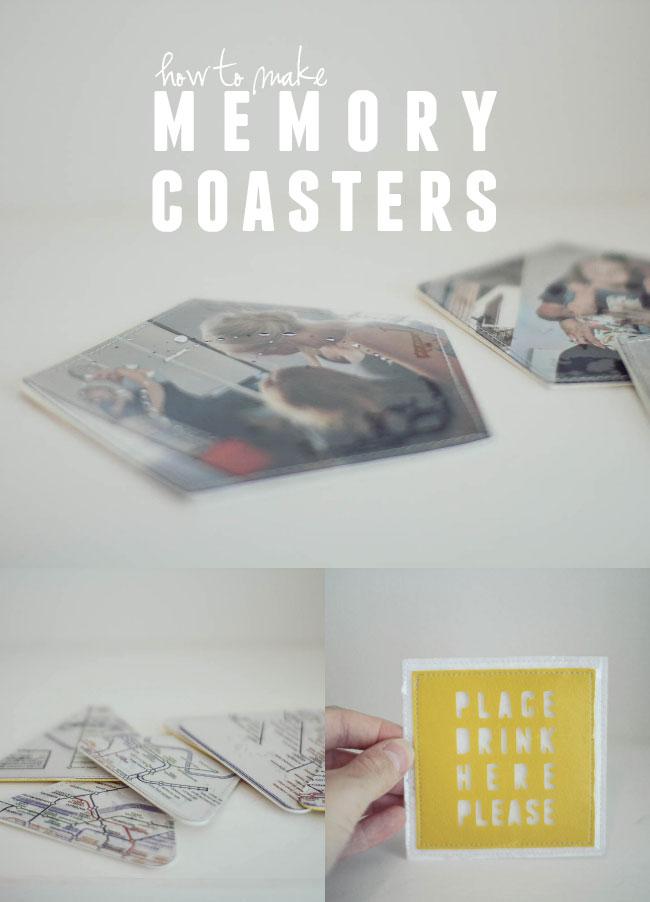 how to make memory coasters