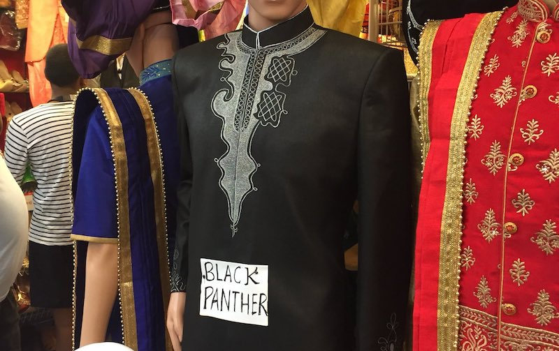 Spiffy replica of traditional robe worn by Black Panther