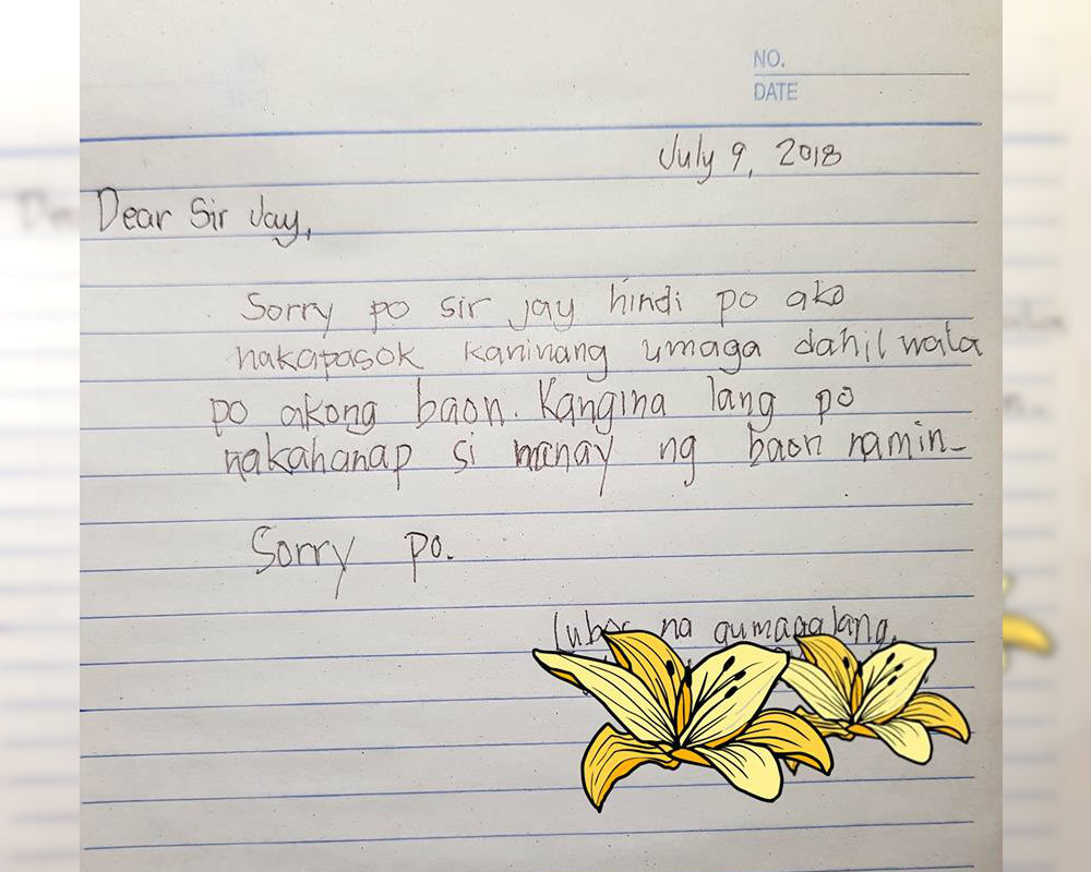 Excuse Letter For School Absence Fever Tagalog - Letter