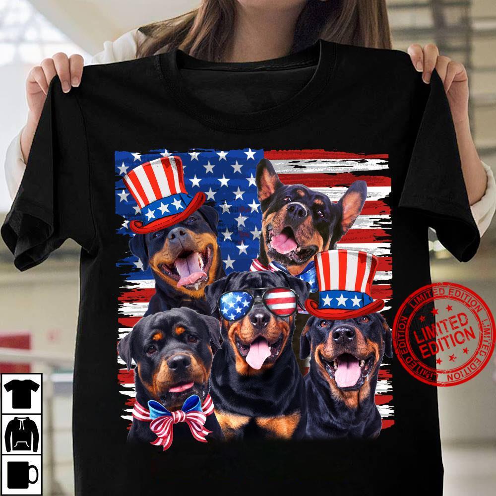 Rottweiler America Flag Shirt