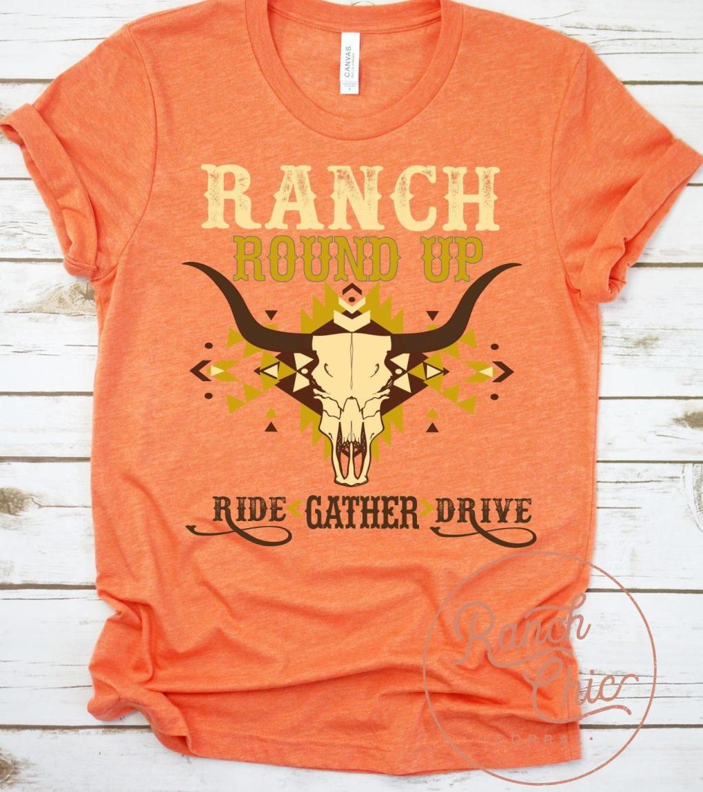 Ranch Round Up Ride Gather Drive Shirt