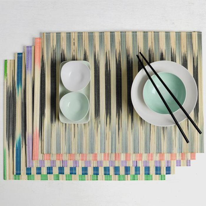 Nom-Living-Split-Bamboo-Placemat-Stripe-Collection