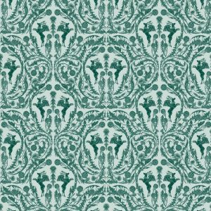 Curtain fabric Upholstery fabric Green curtain fabric Cocoon Home King Peryton