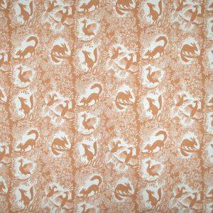 Curtain fabric Upholstery fabric Orange curtain fabric Cocoon Home árbol del Paraíso