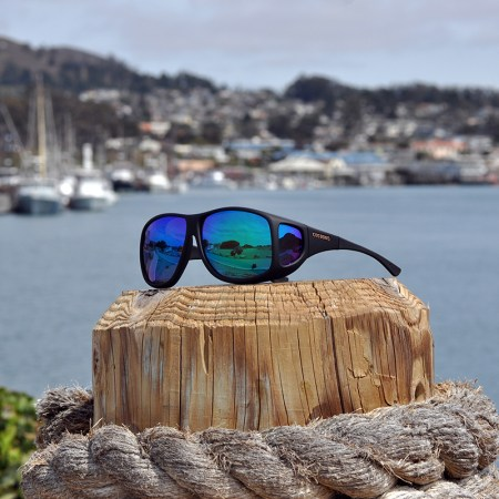 Fitover Sunglasses with Blue Mirror