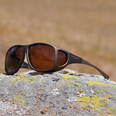 Fitover sunglasses with amber lenses