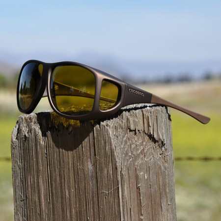 Aviator Cocoons Fitovers with yellow lenses