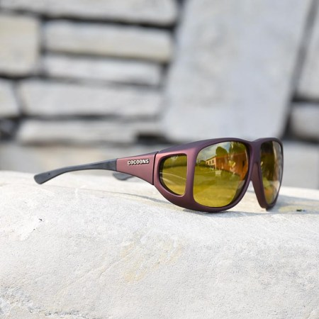 XL fitover sunglasses with yellow lenses